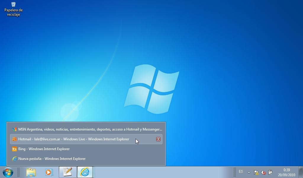 Barra De Tareas Para Windows 7