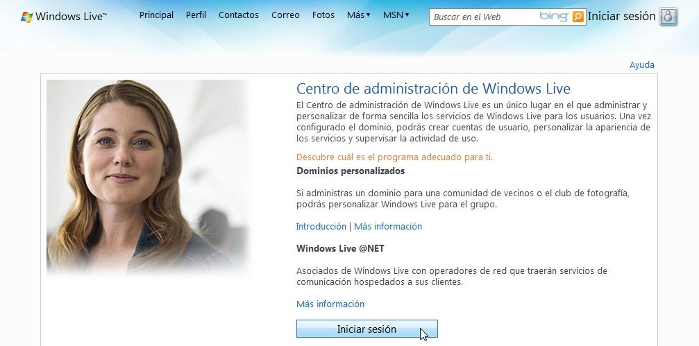 Hotmail configurar dominio para correo @tusitio.com