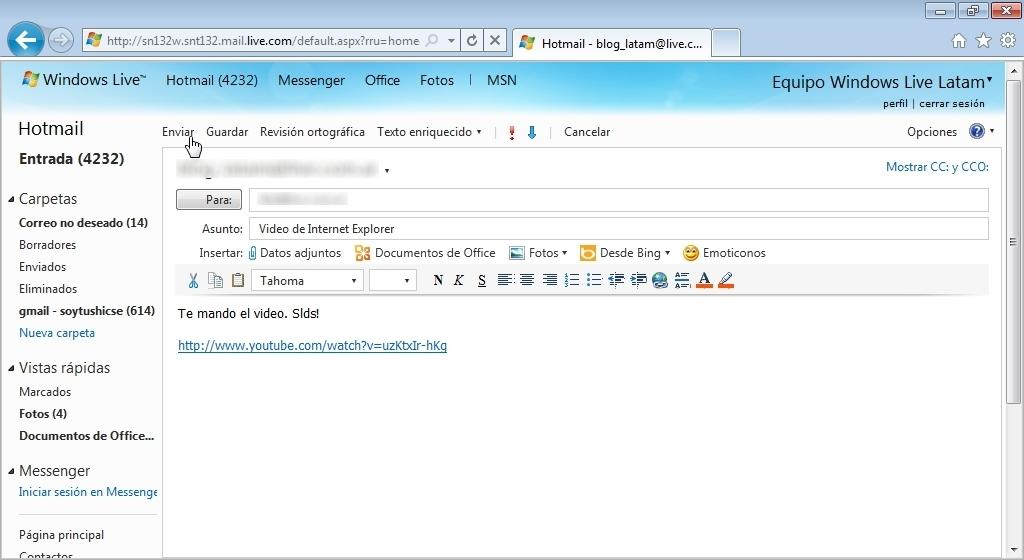 Hotmail el post que se merece tutoriales y mas taringa for Correo postal mas cercano
