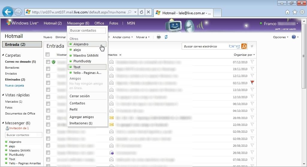 hotmail com messenger: